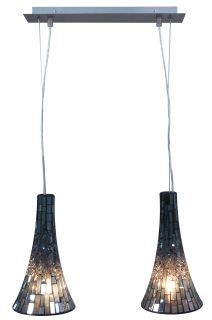 Glaspendelleuchte 2 flg.