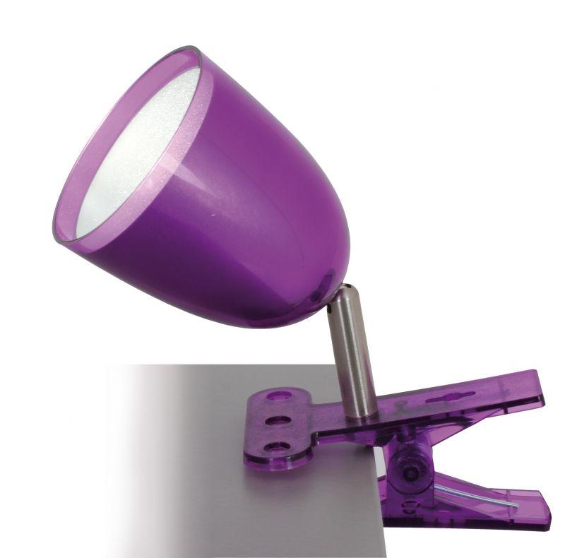 led klemmleuchte pequeno h 19 cm violett 44 95. Black Bedroom Furniture Sets. Home Design Ideas