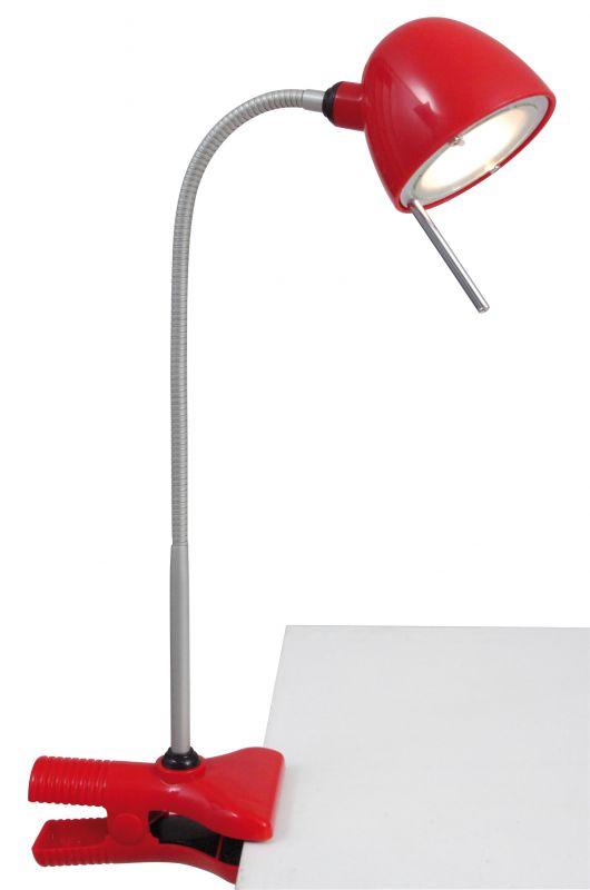 klemmleuchte funny h 50 cm rot 26 95 licht dir. Black Bedroom Furniture Sets. Home Design Ideas