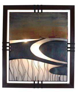 "Wandbild ""River"", b: 79 cm, t:10 cm, h: 92 cm"