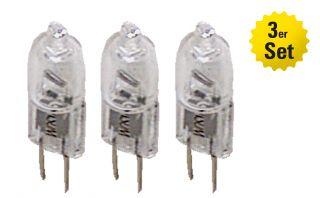 Halogenleuchtmittel 3er Set, 10 Watt; 12 V; G4