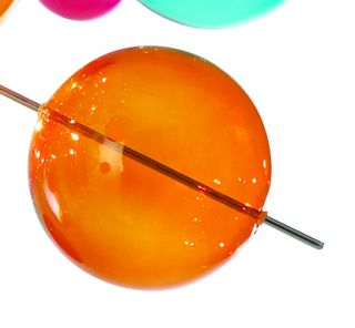1 x Glasball - groß orange - zu Artikel 7026461