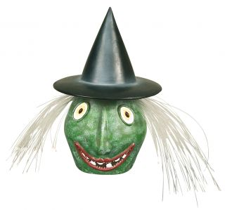 """""""Baddie"""" mit leuchtenden Augen, Mund und Glasfaser-Haaren, h: 37 cm"""