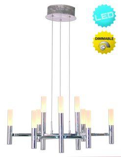 """LED-Krone chrom 18 flg. d: 60cm Up/Down """"Castle"""""""