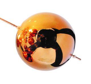1 x Glasball - groß kupfer - 1085147