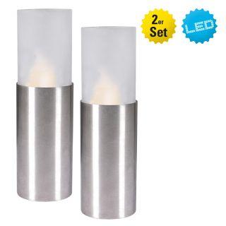2er Set LED Teelicht inkl. Metallfuß
