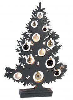 LED-Deko-Weihnachtsbaum h:50cm anthrazit