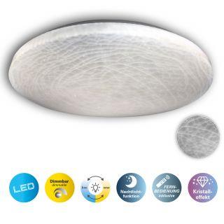 """LED Deckenleuchte """"Polaris"""" d: 48cm Kristalleffekt"""