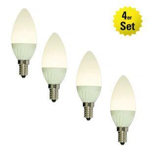 LED-Leuchtmittel E14/7W 4er-Set