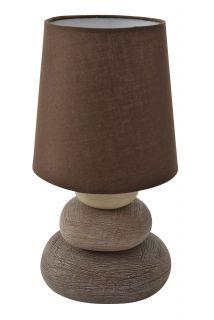 """Keramik Tischleuchte """"Stoney"""" h:31cm"""