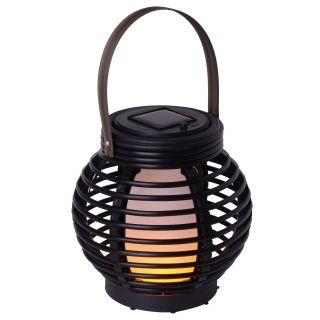 "LED Solar-Tischdeko ""Rattan-Flamme"" h:15cm"