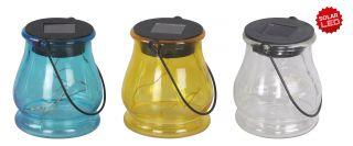 3er-Set LED-Solar-Dekoleuchte