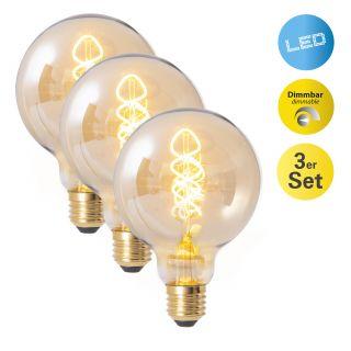 LED Leuchtmittel 3er-Set E27/5W d: 9,5cm