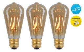 "LED Leuchtmittel E27/4W 3er-Set ""Filament"""