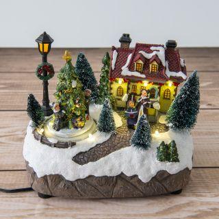 LED-Weihnachts-Dekoleuchte Schneelandschaft