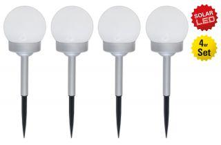 4er-Set LED Kugelerdspiess
