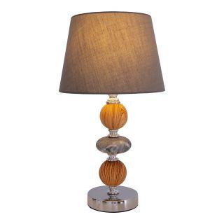 """Keramik Tischleuchte """"Araga"""" h: 36cm grau"""