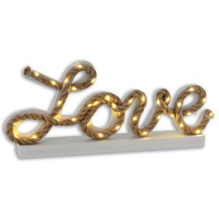 """LED-Deko-Tischleuchte """"Love"""" h: 20cm"""