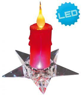 Deko Kerze auf Stern