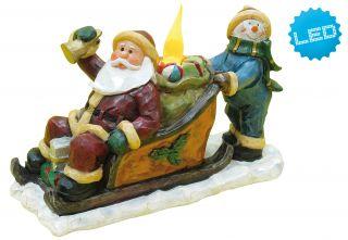 LED Weihnachtsmann und Schneemann