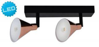 "2er LED-Wand-u. Deckenspot ""Copper"""