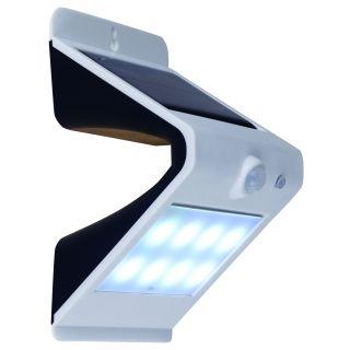 2er-Set LED Solarwandleuchte mit Bewegungsmelder weiß