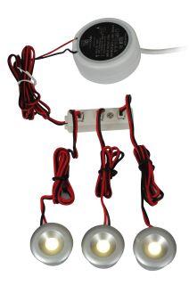 3-er Set LED Einbauspots