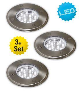 3er-Set Außen-LED-Strahler