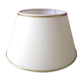 Lampenschirm h: 15cm beige mit Goldrand