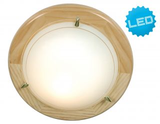 LED - Deckenleuchte UFO-Holz