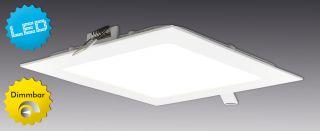 "LED Einbaupanel dimmbar ""Dimplex"" s:17cm"