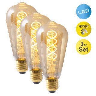 LED Leuchtmittel 3er-Set E27/5W d: 6,4cm