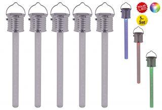 """5er-Set LED-Outdoor-Pendelleuchte """"Thermometer"""""""
